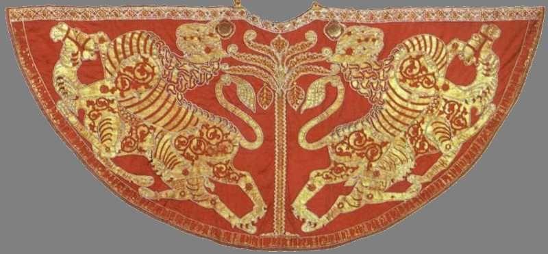 Manteau de couronnement de Roger II, roi de Sicile, 1133   Copper ...
