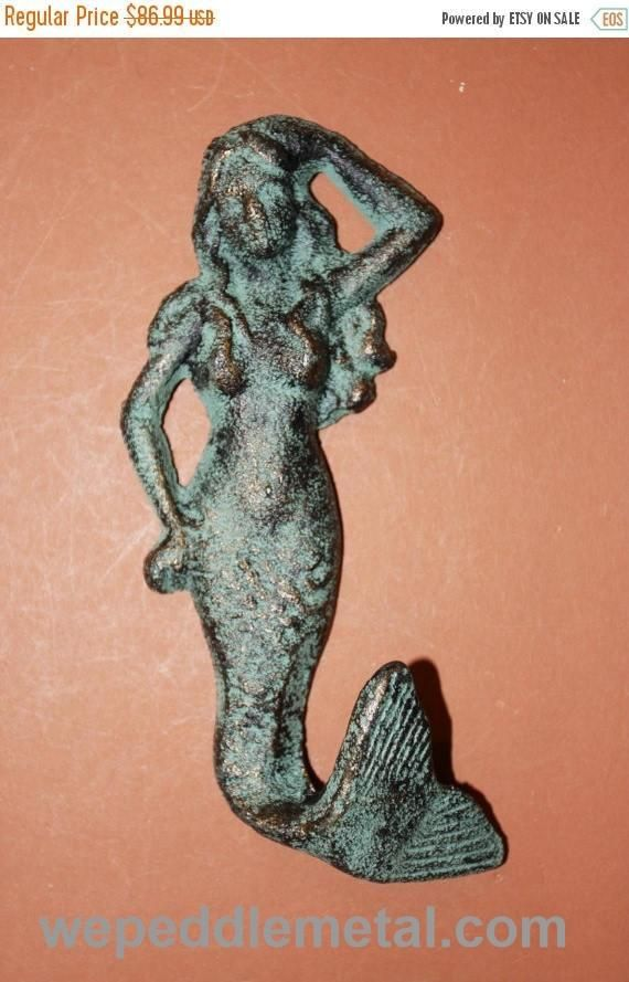 16 Pcs Mermaid Bronze Look Mermaid Ocean Decor Towel Hook