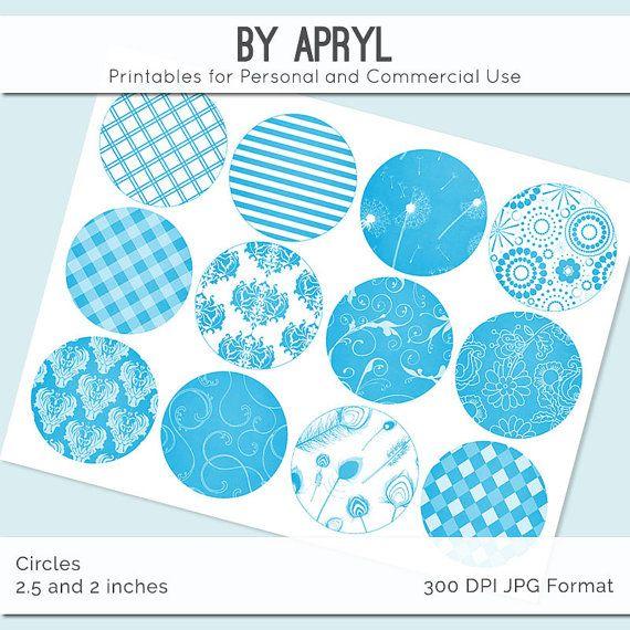 Helle blaue und weiße Muster 25 Zoll und 2 In von suppliesbyapryl