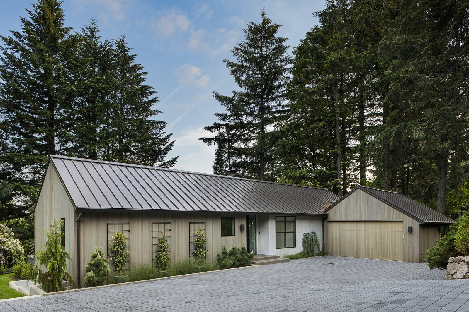Exterior Mid Century Building Type Wood Siding Material Gable Roofline Metal Roof Material House Bu Portland Real Estate Architecture Details Architecture