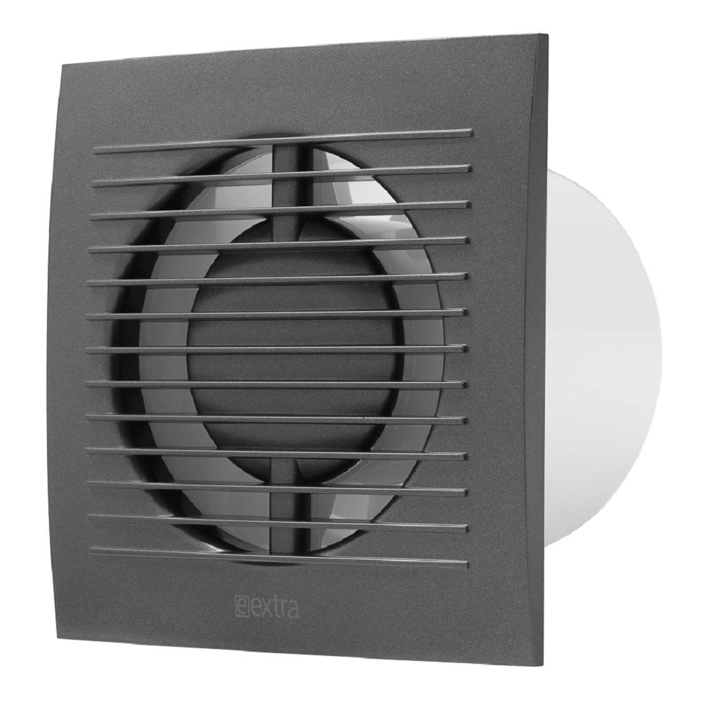 100mm 4 Bathroom Toilet Wall Ceiling Extractor Fan With Timer Ventilation Fan Colour Anthracite Black Toilet Wall Bathroom Extractor Fan Extractor Fans
