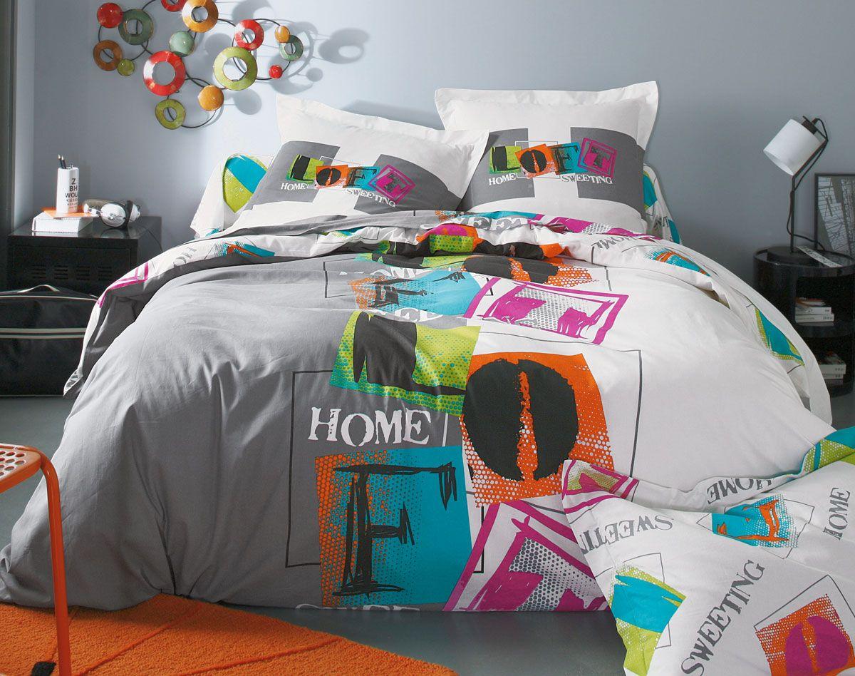 linge de lit graffiti becquet linge de maison pinterest linge de lit lit et parure de lit. Black Bedroom Furniture Sets. Home Design Ideas