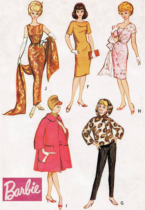 Barbie doll Sewing Pattern: 7137 | Pinterest | Doll sewing patterns ...