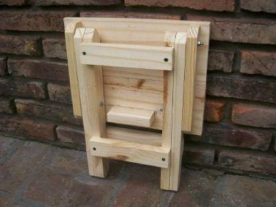 Banqueta banco silla plegable de madera somos fabricantes for Banqueta escalera plegable