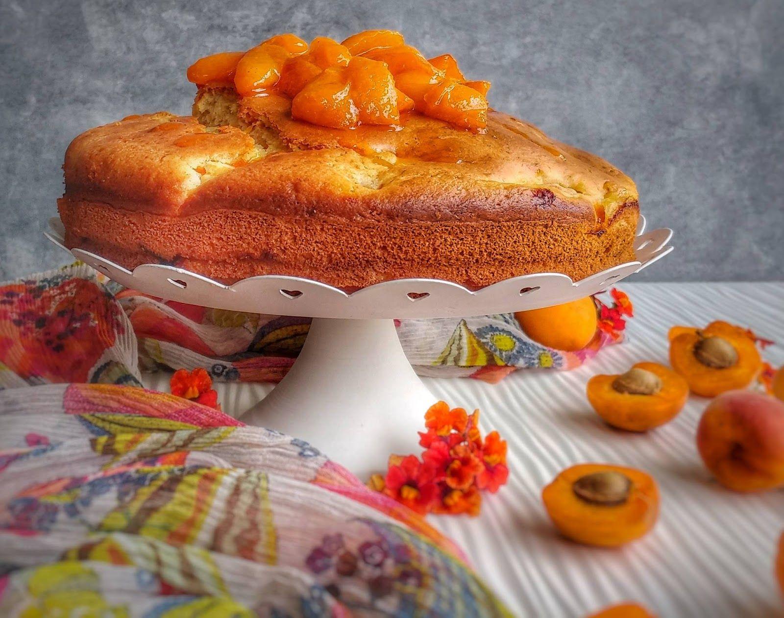 torta di ricotta ed albicocche