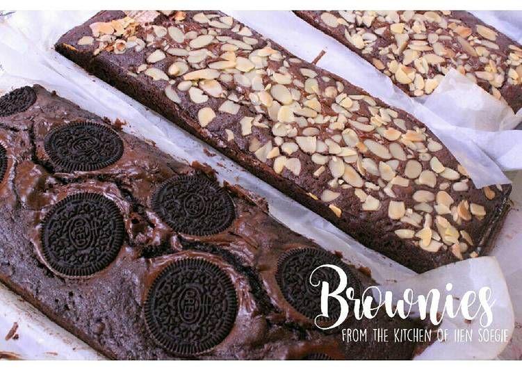 Resep Triple Chocolate Brownies Oleh Iien Soegie Resep Brownies Cokelat Makanan Dan Minuman Brownies Oreo