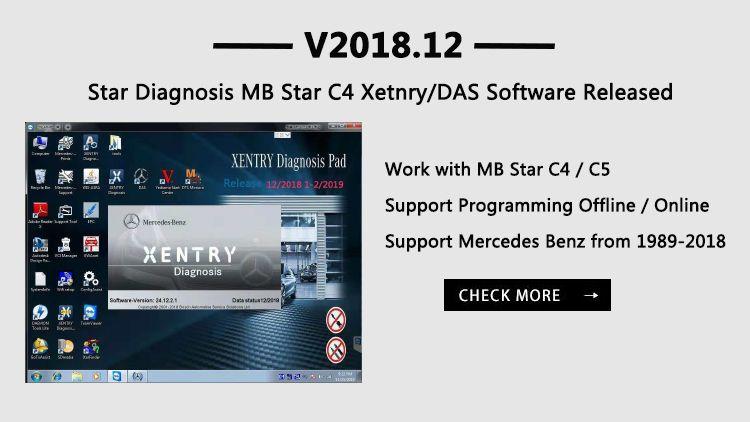 VXDAS V2018 12 #Star #Diagnosis MB Star C4 Xetnry/DAS Software