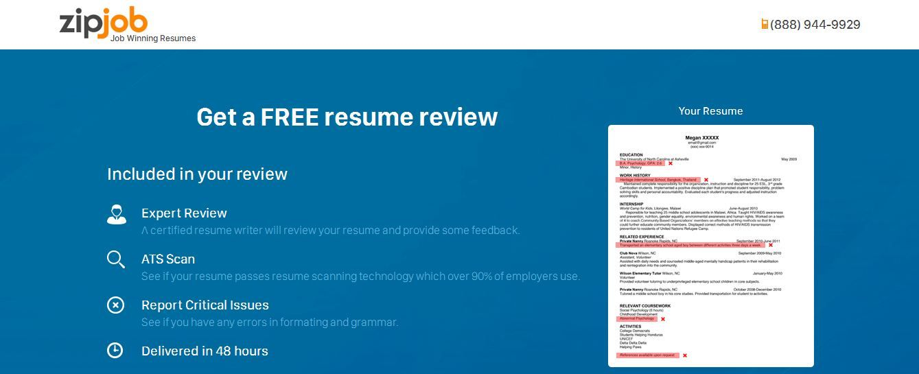 Zipjob Is The Company Provides Services Of Resume Writing Services