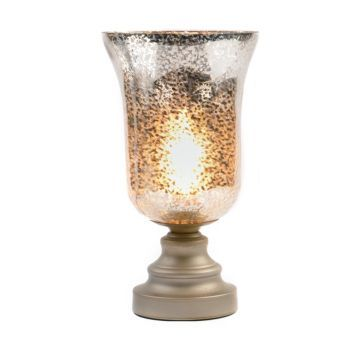 Silver Mercury Glass Uplight Glass Table Lamp Mercury Glass Table Lamp Glass Lamp