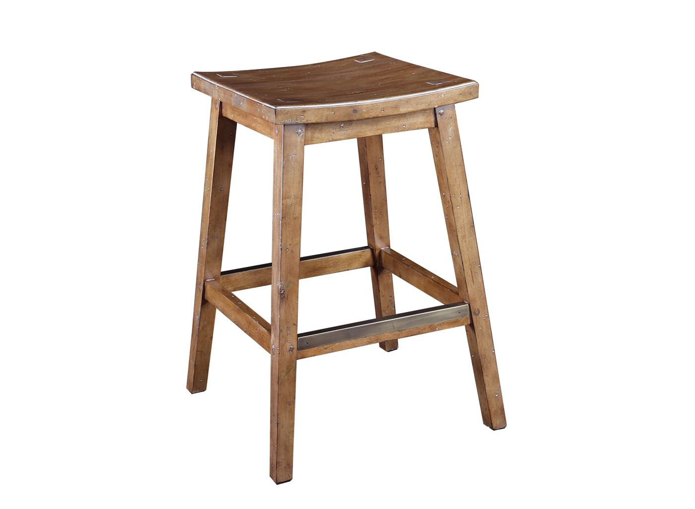 Artistica Home Barstools Past Blonde All Wood Backless Counter Stool Stationary 268 038