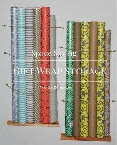 Store Wrapping Paper Using Vertical Space...the Wall. Storage Solutions,  Small Spaces, Gift Wrap