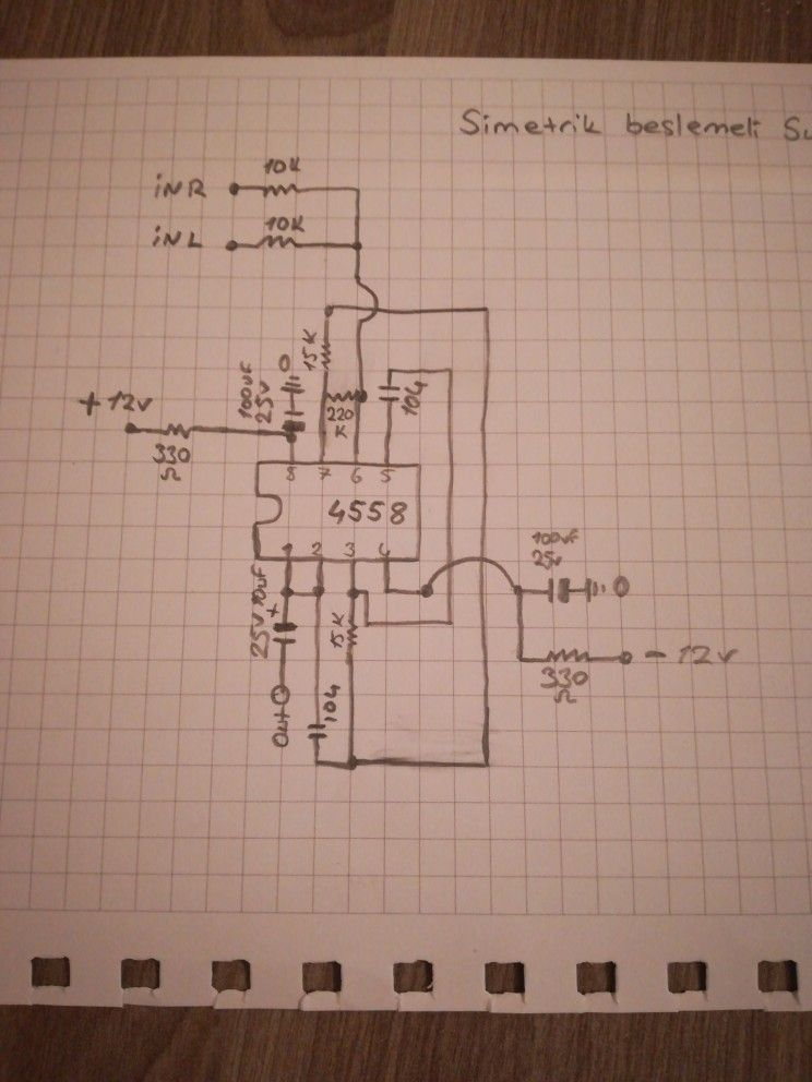 Low Pass Filter For Subwoofer Using Tl062 Circuit Schematic Diagram