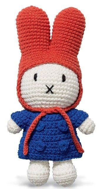 Nijntje handmade Nijntje gehaakt met blauwe jas en rode muts ...