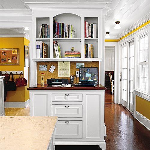 Kitchen Cabinets Ideas kitchen desk cabinets : 17 Best images about Kitchen Desk on Pinterest | Built in desk ...