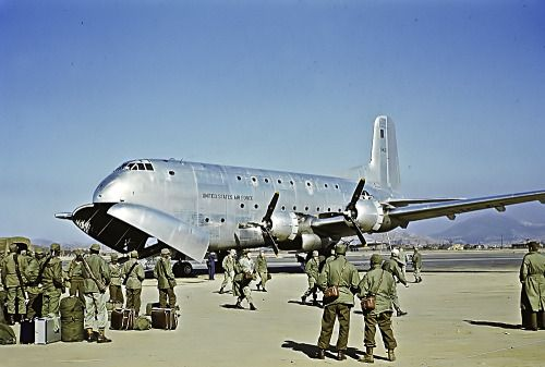 American troops ready to return home from the Korean War on a