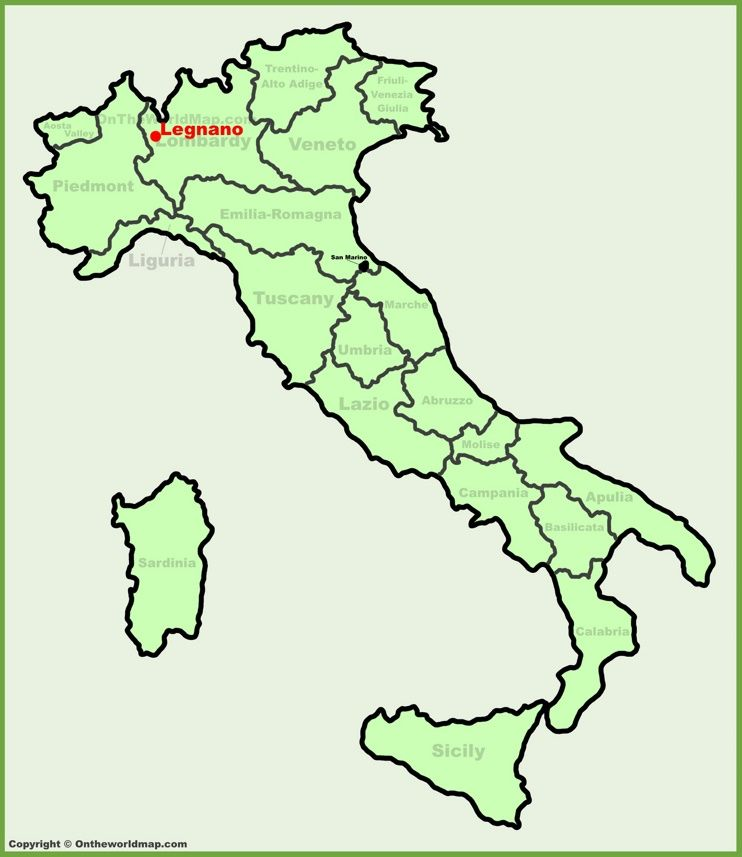 Legnano location on the Italy map Maps Pinterest Italy and City