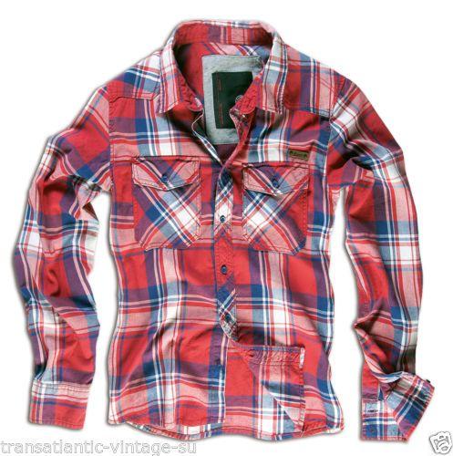 BRANDIT Brushed Cotton Casual Lumberjack Shirt Vintage Big ...