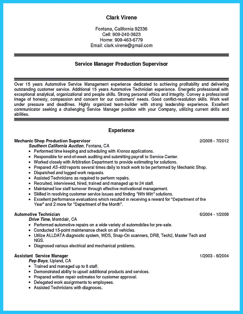 Before starting to write an auto technician resume, you need to ...