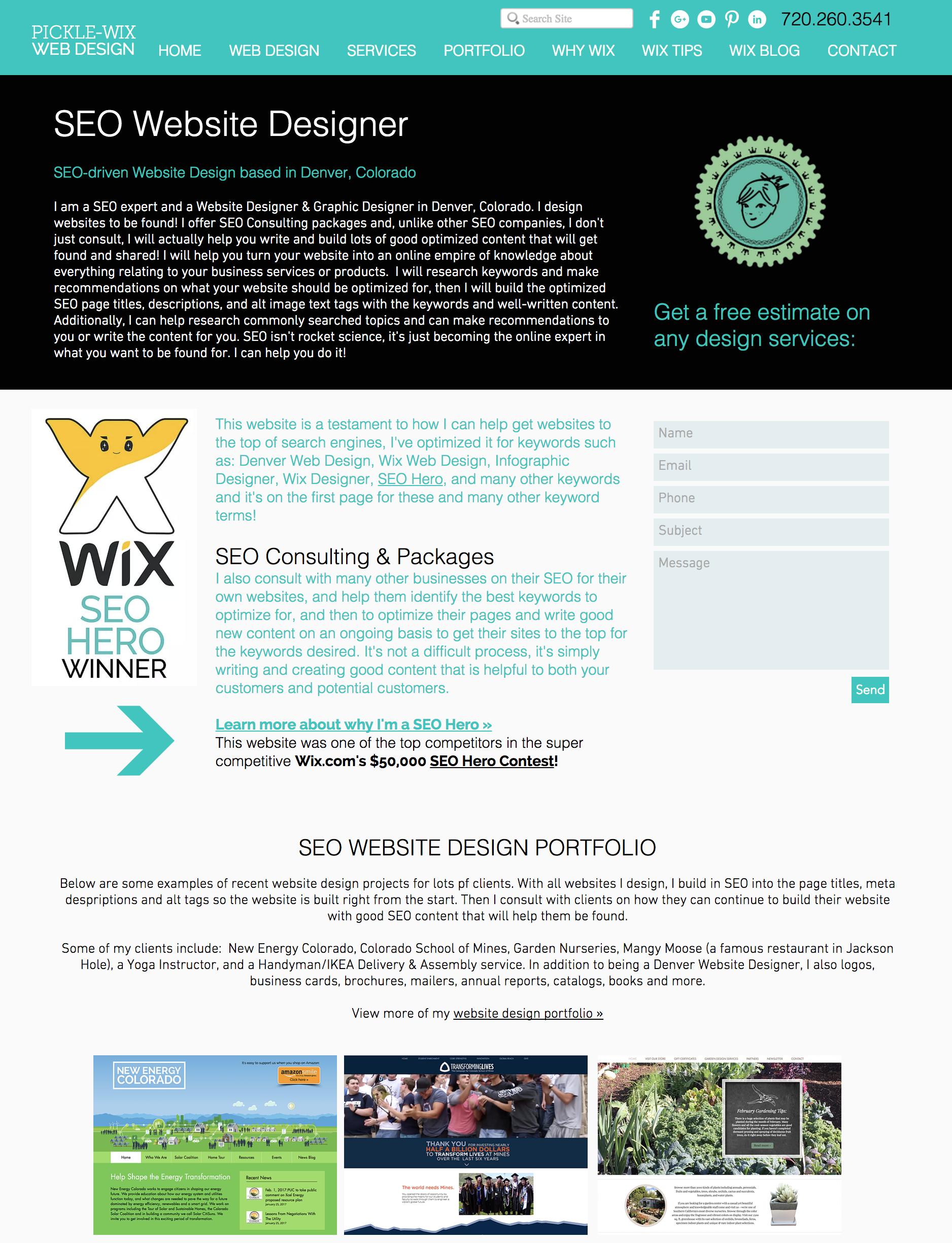 Seo Website Designer Website Design Seo Website Wix Web Design