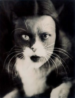 Self-portrait (Io+gatto) 1932 by experimental Italian photographer Wanda Wulz