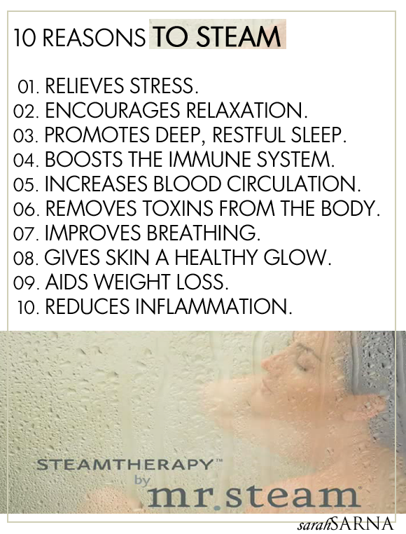 10 Reasons to Steam with Mr. Steam | Steam bath, Steam room and Facial