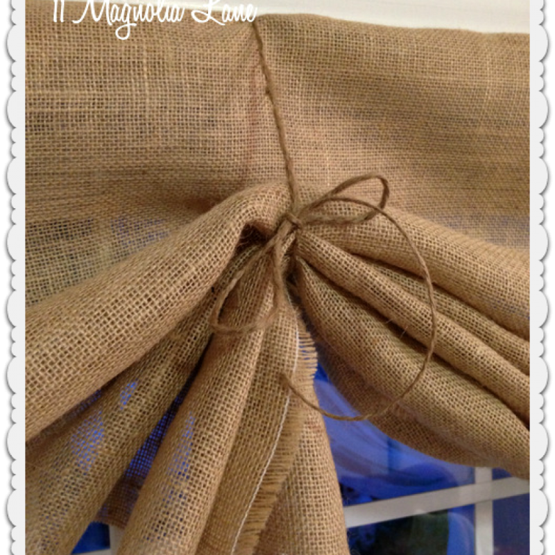 Sewing Kitchen Curtains: Tutorial: How To Make A No-Sew DIY Burlap Window Valances