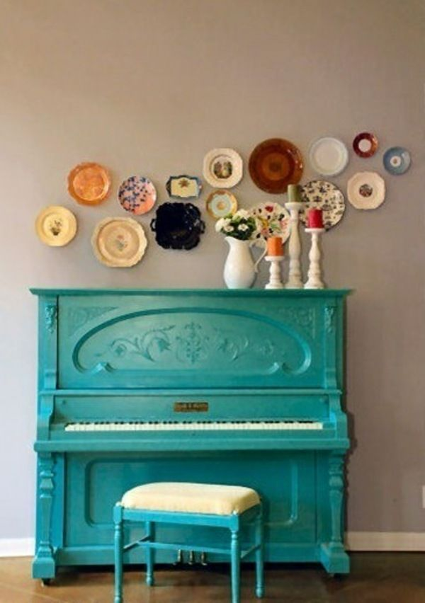 Schrank Bemalen Ideen restauration klavier bemalte möbel ideen home musikzimmer