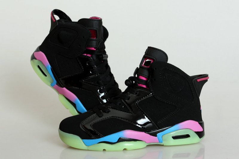 sports shoes db308 ede70 Midnight Jordan 6 Black Colorful Shoes For Women