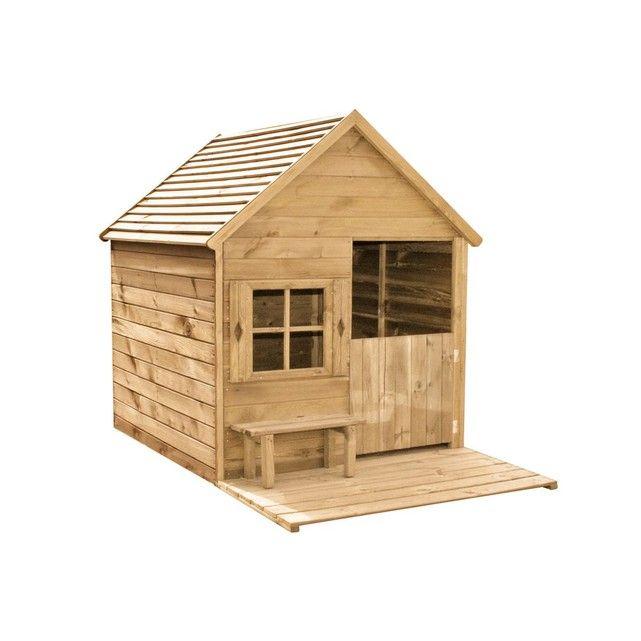 Cabane enfant Heidi en bois - construire une cabane de jardin en bois