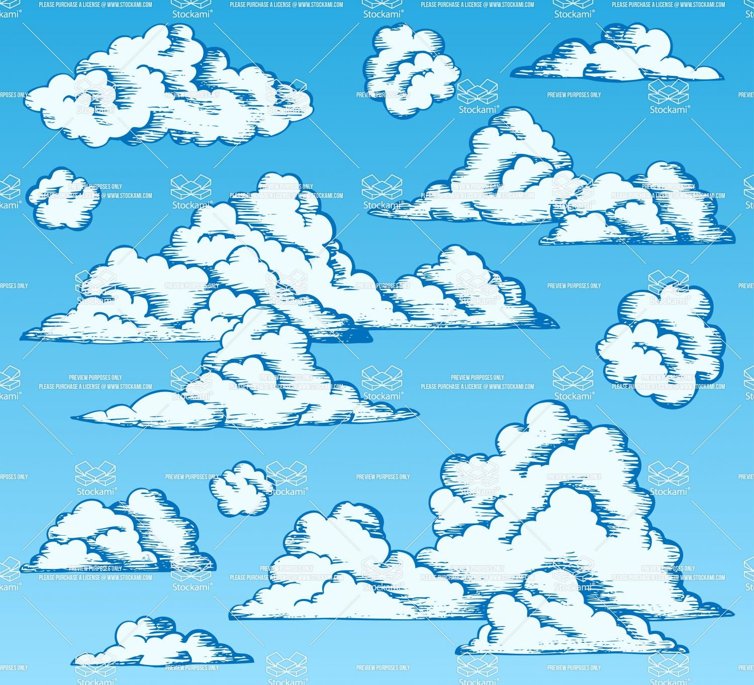 Clouds Drawings On Blue Sky 1 Cloud Drawing Clouds Cloud Illustration