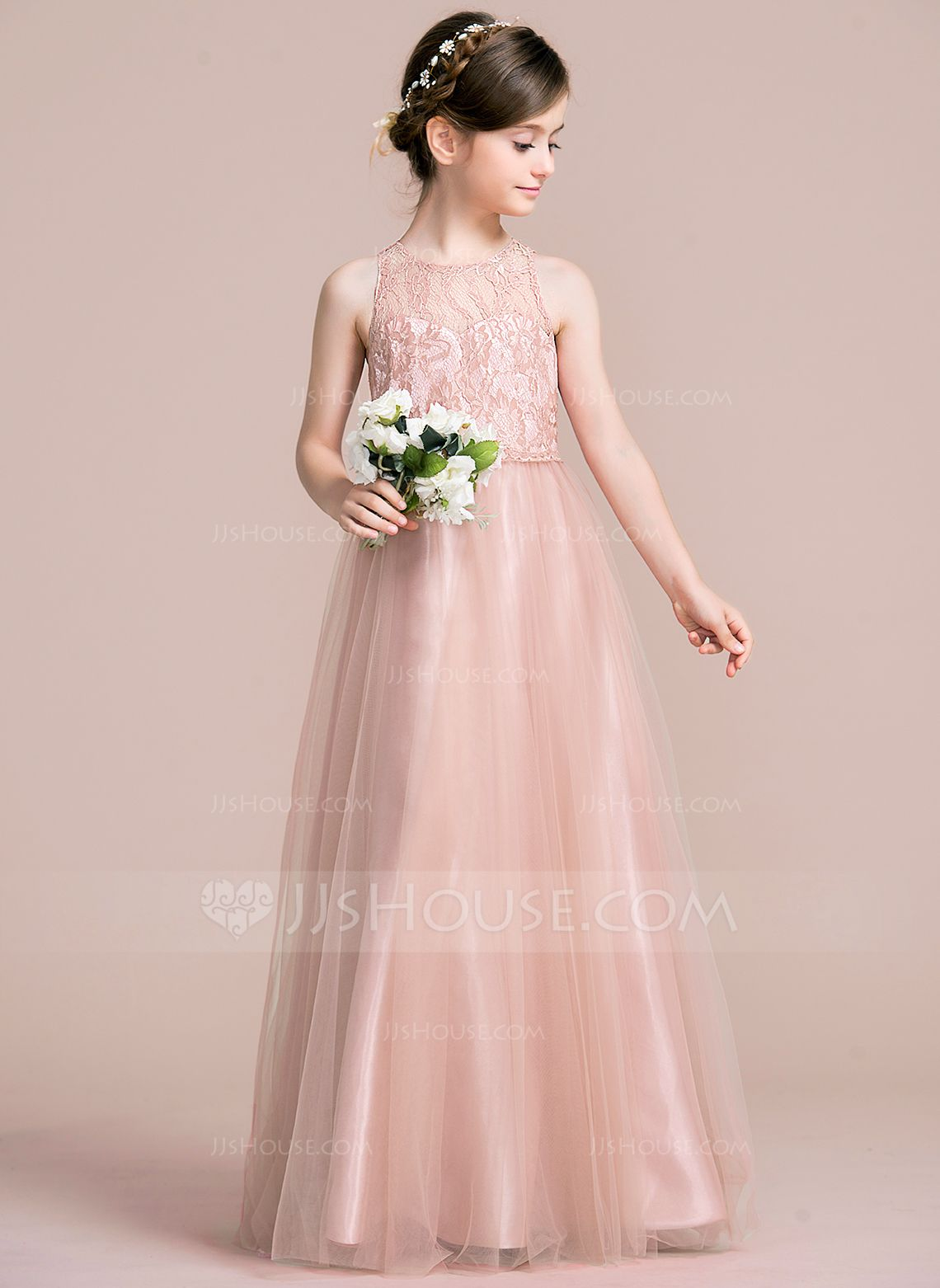 A lineprincess scoop neck floor length zipper up regular straps in bridesmaid colors a lineprincess scoop neck floor length zipper up regular straps sleeveless no other colors general tulle junior bridesmaid dress ombrellifo Images