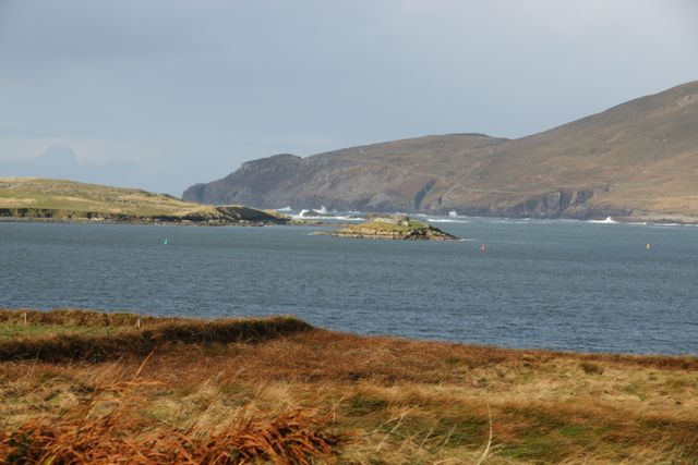 Ireland, Ring of Kerry, beach marsh ocean beautiful scenery