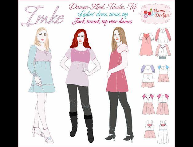 buy online 8f308 51e3f Kleider und Shirts mit langen oder kurzen Ärmeln, schmale ...