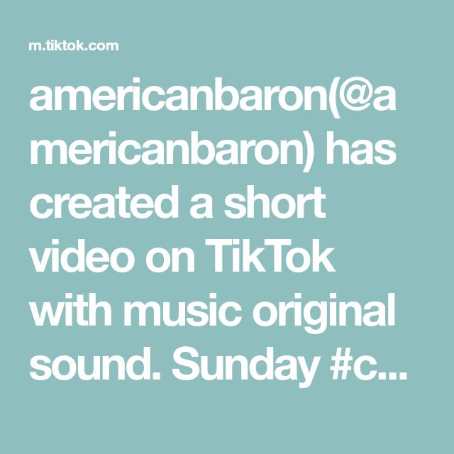 Americanbaron Americanbaron Has Created A Short Video On Tiktok With Music Original Sound Sunday Comedyske The Originals Presentation Skills Kuroo Tetsurou