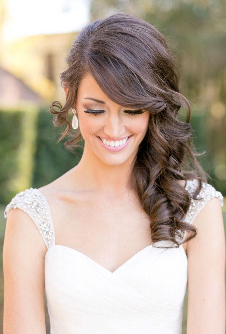 hair to one side   wedding hair   elegant wedding hair