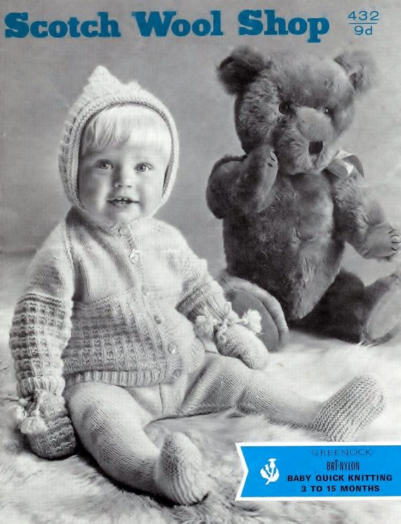 2d09760fdd3c PDF of of Vintage Knitting Baby Patterns - Scotch Wool Shop 432QK ...