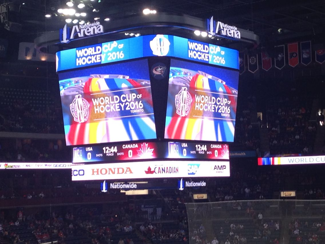 World Cup of Hockey 2016. Nationwide Arena. Sept 9, 2016