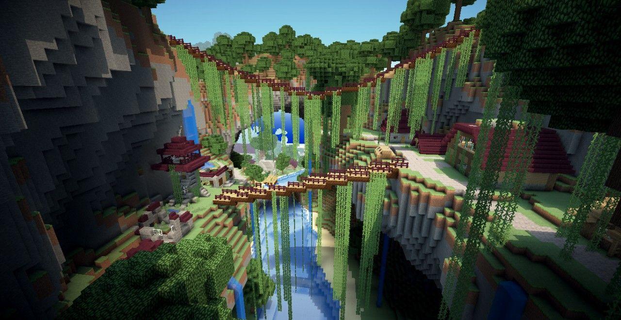 Minecraft Village On A Ravine Minecraft Blueprints