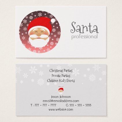 Santa professional christmas beautiful simple chic business card santa professional christmas beautiful simple chic business card simple clear clean design style unique diy colourmoves