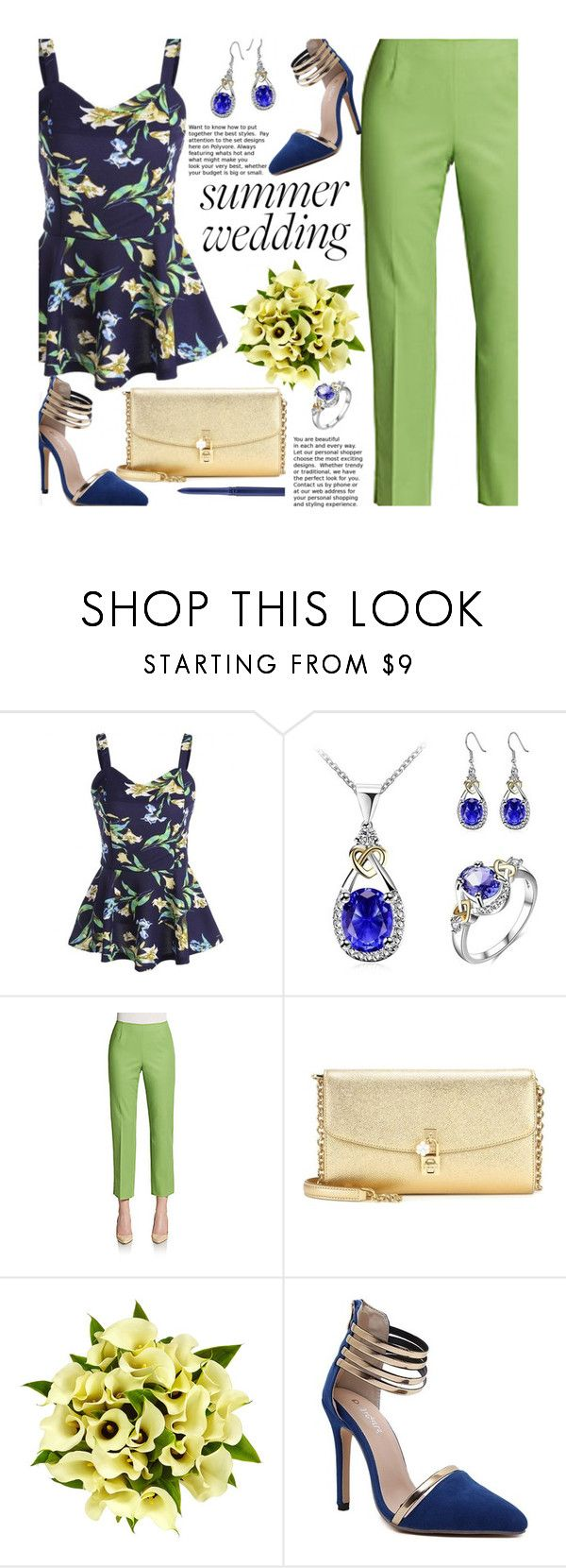 """Say I Do: Summer Weddings"" by beebeely-look ❤ liked on Polyvore featuring Lafayette 148 New York, Dolce&Gabbana, Fountain, MAC Cosmetics, wedding, floralprint, summerwedding, bestdressedguest and twinkledeals"