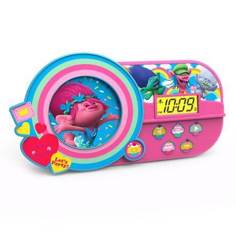 Dreamworks Trolls Musical Alarm Clock Multi Coloured Aa ...