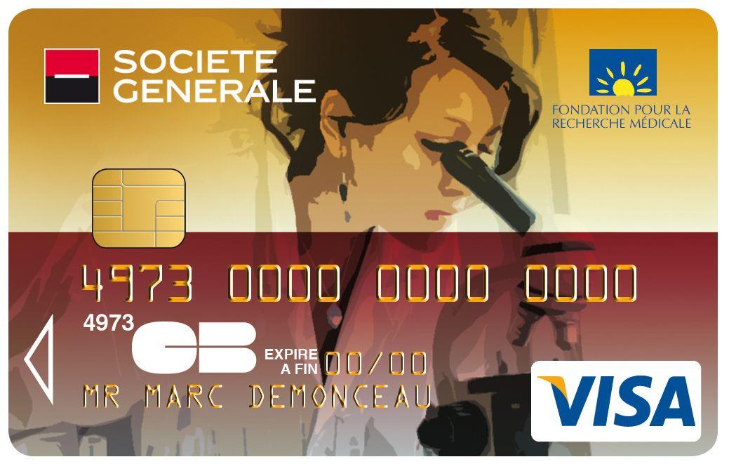 Carte Visa Societe Generale Fondation Pour La Recherche Medicale