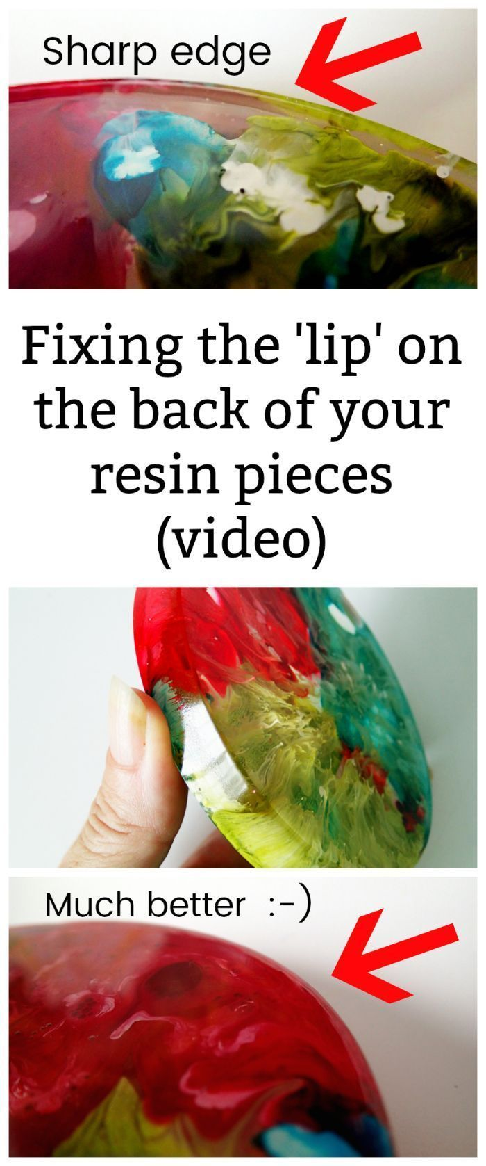 Photo of Fixing the lip on the edge of your resin