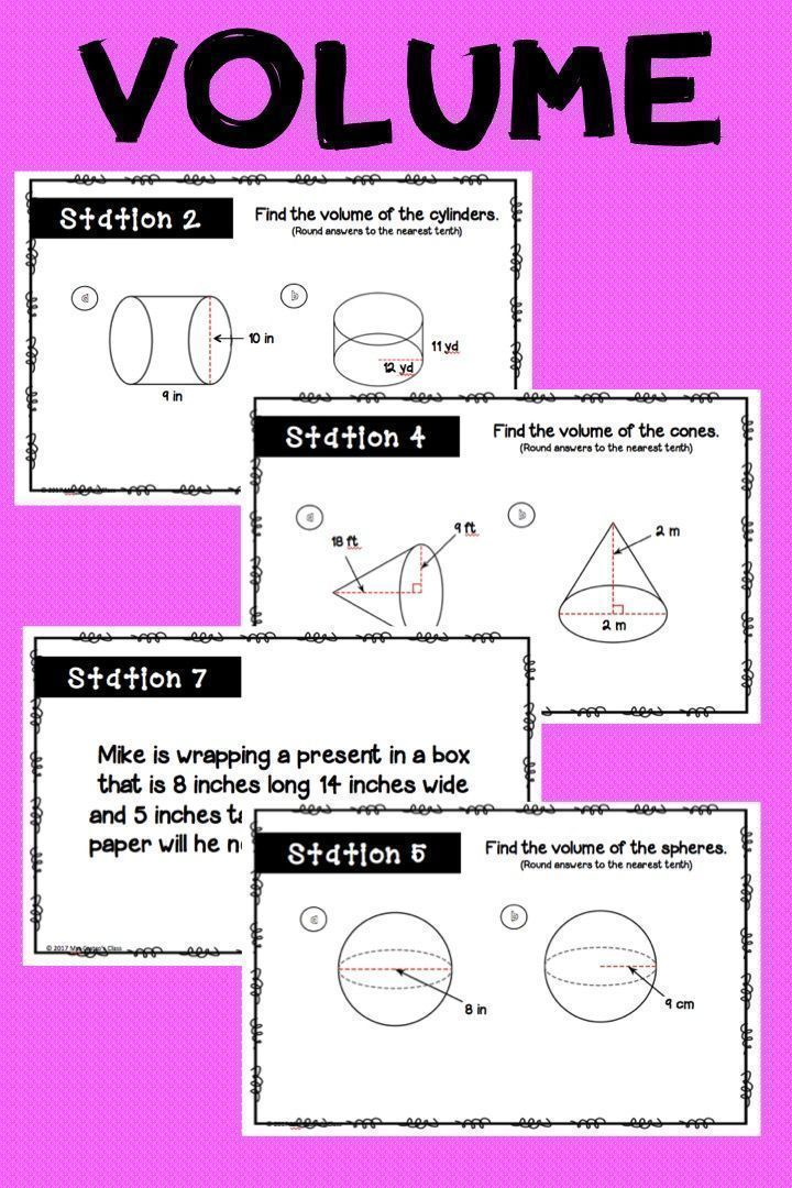 Volume Stations Activity | Station activities, Geometry ...
