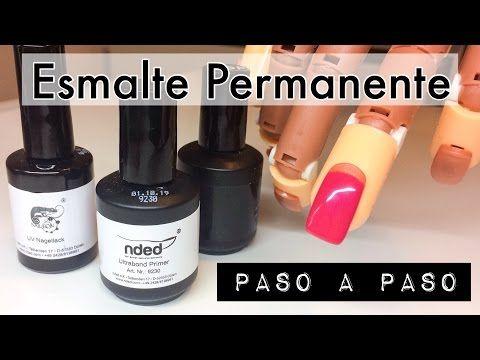 Esmaltado Permanente Paso a Paso   Tutorial con productos ...