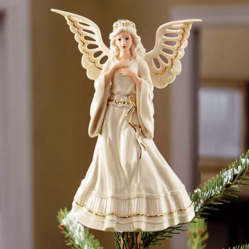 Angel porcelain Christmas tree topper by Lenox - Angelic Visions - NIB # LENOX - Angel Porcelain Christmas Tree Topper By Lenox - Angelic Visions