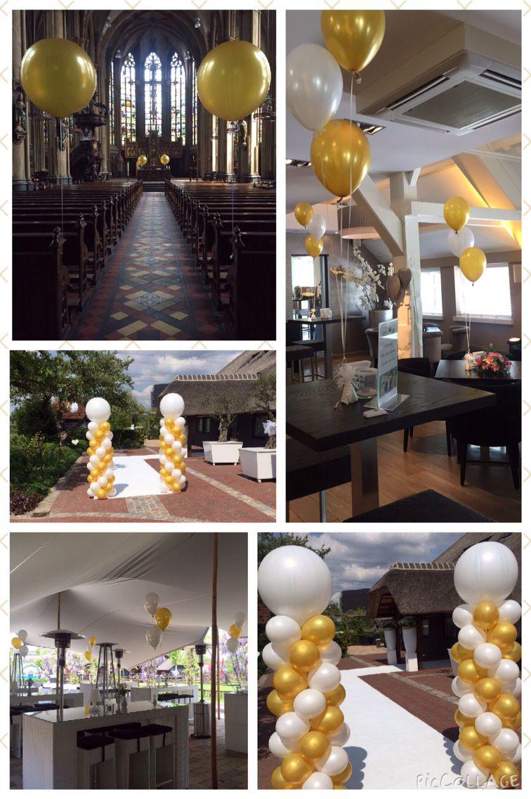 Bruiloft in kleurenthema wit en goud wedding in for Goud zwart versiering