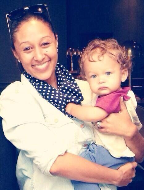 Tamera Mowry interracial mom and son
