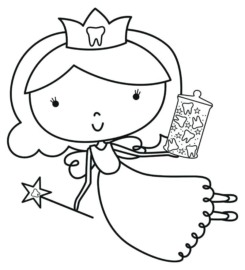 Tooth Coloring Pages Printable Tooth Coloring Fairy Coloring