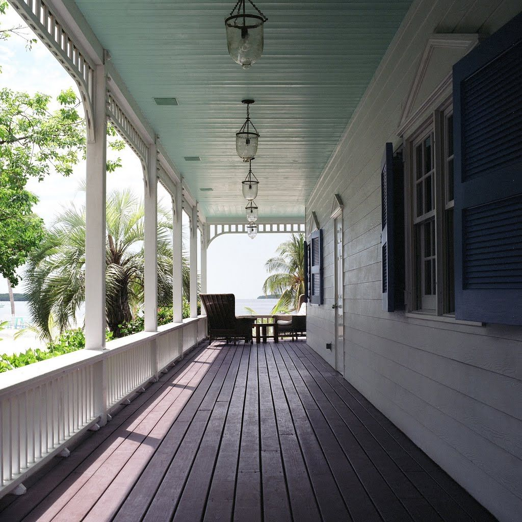 Charming Front Porch Ceiling   Light Blue Painted Ceilings Feel Cooler And Airy.  Itu0027s An Old